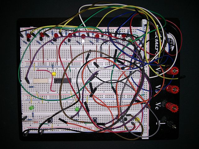 Fireworks Launcher – Breadboard used for the initial electronic testing phase